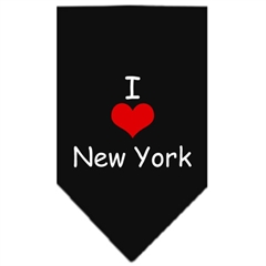 Mirage Pet Products I Heart New York  Screen Print Bandana Black Large