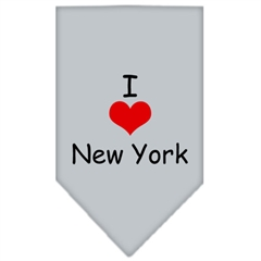 Mirage Pet Products I Heart New York  Screen Print Bandana Grey Large