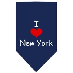 Mirage Pet Products I Heart New York  Screen Print Bandana Navy Blue Small