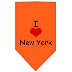 Mirage Pet Products I Heart New York  Screen Print Bandana Orange Large