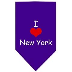 Mirage Pet Products I Heart New York  Screen Print Bandana Purple Small