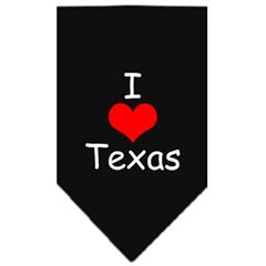 Mirage Pet Products I Heart Texas  Screen Print Bandana Black Small