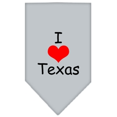 Mirage Pet Products I Heart Texas  Screen Print Bandana Grey Small