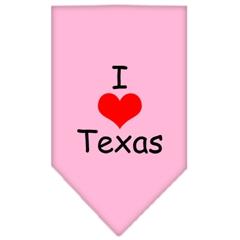 Mirage Pet Products I Heart Texas  Screen Print Bandana Light Pink Small