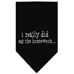 Mirage Pet Products I really did eat the Homework Screen Print Bandana Black Large