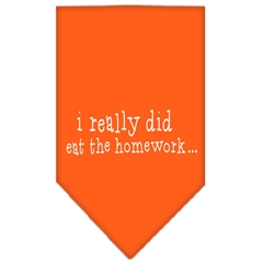 Mirage Pet Products I really did eat the Homework Screen Print Bandana Orange Small