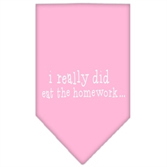 Mirage Pet Products I really did eat the Homework Screen Print Bandana Light Pink Small