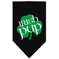 Mirage Pet Products Irish Pup Screen Print Bandana Black Large
