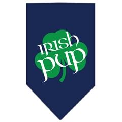 Mirage Pet Products Irish Pup Screen Print Bandana Navy Blue Small