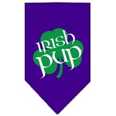 Mirage Pet Products Irish Pup Screen Print Bandana Purple Small