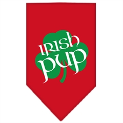 Mirage Pet Products Irish Pup Screen Print Bandana Red Large