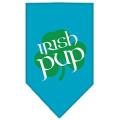 Mirage Pet Products Irish Pup Screen Print Bandana Turquoise Large