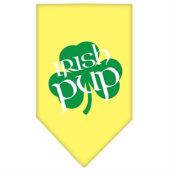 Mirage Pet Products Irish Pup Screen Print Bandana Yellow Small
