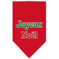 Mirage Pet Products Joyeux Noel Screen Print Bandana Red Large
