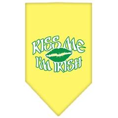 Mirage Pet Products Kiss me I'm Irish Screen Print Bandana Yellow Small