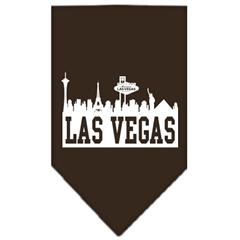 Mirage Pet Products Las Vegas Skyline Screen Print Bandana Cocoa Small