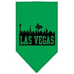 Mirage Pet Products Las Vegas Skyline Screen Print Bandana Emerald Green Large