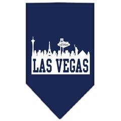 Mirage Pet Products Las Vegas Skyline Screen Print Bandana Navy Blue Small