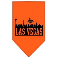 Mirage Pet Products Las Vegas Skyline Screen Print Bandana Orange Small