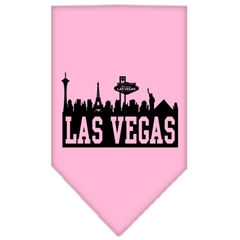 Mirage Pet Products Las Vegas Skyline Screen Print Bandana Light Pink Large