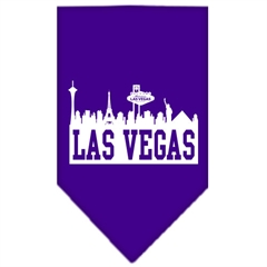 Mirage Pet Products Las Vegas Skyline Screen Print Bandana Purple Large