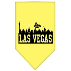 Mirage Pet Products Las Vegas Skyline Screen Print Bandana Yellow Small