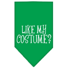 Mirage Pet Products Like my costume? Screen Print Bandana Emerald Green Large