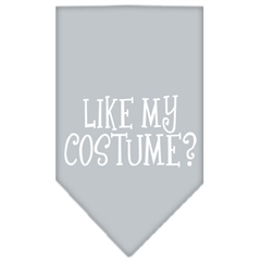 Mirage Pet Products Like my costume? Screen Print Bandana Grey Large