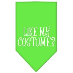 Mirage Pet Products Like my costume? Screen Print Bandana Lime Green Small