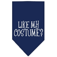 Mirage Pet Products Like my costume? Screen Print Bandana Navy Blue large