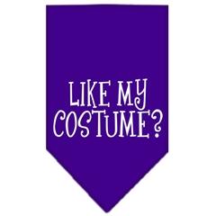 Mirage Pet Products Like my costume? Screen Print Bandana Purple Large