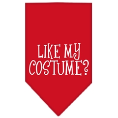 Mirage Pet Products Like my costume? Screen Print Bandana Red Large