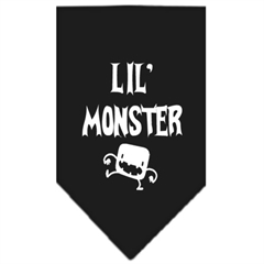 Mirage Pet Products Lil Monster  Screen Print Bandana Black Small