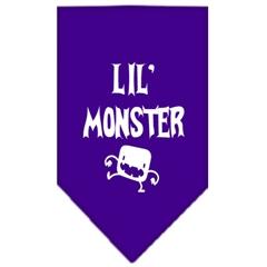 Mirage Pet Products Lil Monster  Screen Print Bandana Purple Small