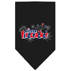 Mirage Pet Products Little Firecracker Screen Print Bandana Black Large