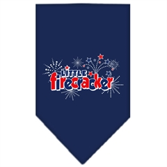 Mirage Pet Products Little Firecracker Screen Print Bandana Navy Blue large
