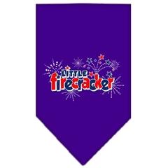 Mirage Pet Products Little Firecracker Screen Print Bandana Purple Small