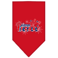 Mirage Pet Products Little Firecracker Screen Print Bandana Red Large