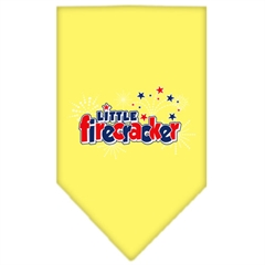 Mirage Pet Products Little Firecracker Screen Print Bandana Yellow Small