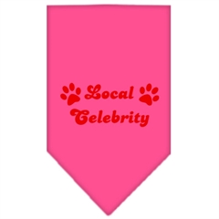 Mirage Pet Products Local Celebrity Screen Print Bandana Bright Pink Large