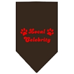 Mirage Pet Products Local Celebrity Screen Print Bandana Cocoa Large