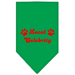 Mirage Pet Products Local Celebrity Screen Print Bandana Emerald Green Small