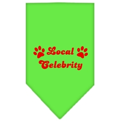 Mirage Pet Products Local Celebrity Screen Print Bandana Lime Green Large