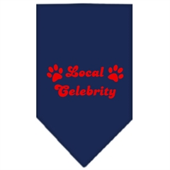 Mirage Pet Products Local Celebrity Screen Print Bandana Navy Blue large