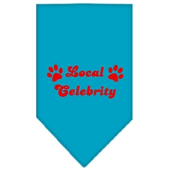Mirage Pet Products Local Celebrity Screen Print Bandana Turquoise Small