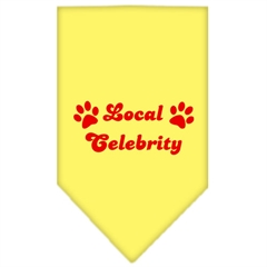 Mirage Pet Products Local Celebrity Screen Print Bandana Yellow Large