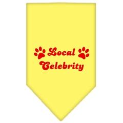Mirage Pet Products Local Celebrity Screen Print Bandana Yellow Small
