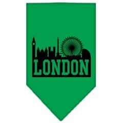 Mirage Pet Products London Skyline Screen Print Bandana Emerald Green Large