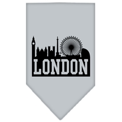 Mirage Pet Products London Skyline Screen Print Bandana Grey Small