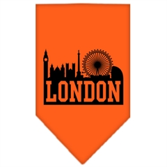 Mirage Pet Products London Skyline Screen Print Bandana Orange Small